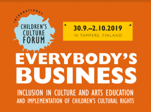 The first International Children's Culture Forum takes place in Tampere